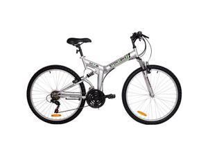 """Stowabike 26"""" Folding Dual-Suspension 18 Speed Shimano Mountain Bike"""