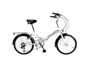 "Stowabike 20"" Folding City V2 Compact Foldable Bike – 6 Speed - White"