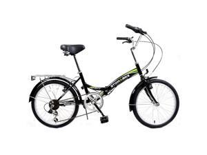 "Stowabike 20"" Folding City V2 Compact Foldable Bike – 6 Speed - Black"