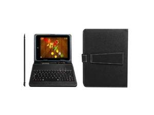 PU Leather Carrying Case For Kocaso MID M9000 and other Brand 9 inch Tablet Stand w/ Micro USB Keyboard + Stylus Pen