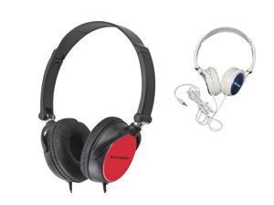 Brand New KOCASO Lightwight Swivel Folding Stereo Headphones Black or White