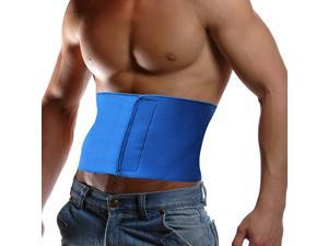Waist Trimmer Wrap Fat Cellulite Burner Body Leg Slimming Shaper Exercise Belt (Blue)