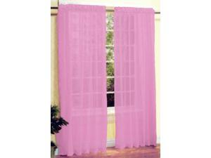 New 2 Pc Sexy Sheer Voile Window Curtain Panel Set Pink