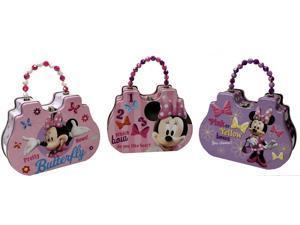 Disney Minnie Mouse Satchel Tin Purse, Bundle - 3 items : 1 in each Style