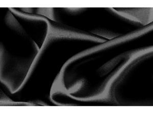 Silk~Y Satin Lingerie Bed Sheet Set Queen Black