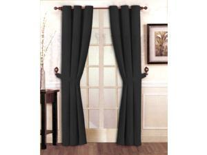 "Stylish Solid Red Micro Suede Window Curtain Set Grommet Top (2 panels - 40"" x 84"")"