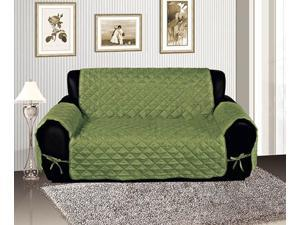 Sage Micro Suede Reversible Pet Protector Furniture Cover Loveseat Slipcover