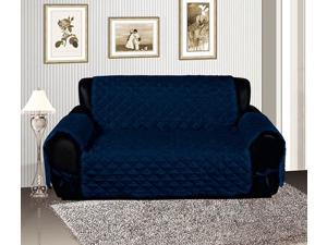 Navy Micro Suede Reversible Pet Protector Furniture Cover Sofa Slipcover