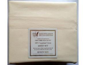 1500 Thread Count Egyptian Cotton Quality Sheet Set Deep Pockets Wrinkle Free (Beige, King)