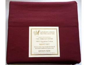 1500 Thread Count Egyptian Cotton Quality Sheet Set Deep Pockets Wrinkle Free (Burgundy, King)