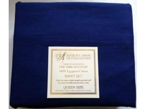 1500 Thread Count Egyptian Cotton Quality Sheet Set Deep Pockets Wrinkle Free (Navy, Queen)