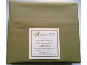 1500 Thread Count Egyptian Cotton Quality Sheet Set Deep Pockets Wrinkle Free (Taupe, Queen)