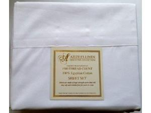 1500 Thread Count Egyptian Cotton Quality Sheet Set Deep Pockets Wrinkle Free (White, Full)