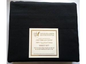 1500 Thread Count Egyptian Cotton Quality Sheet Set Deep Pockets Wrinkle Free (Black, King)