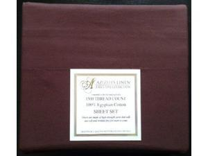 1500 Thread Count Egyptian Cotton Quality Sheet Set Deep Pockets Wrinkle Free (Chocolate Brown, Queen)