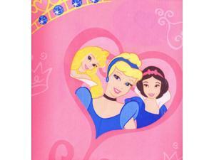 New Disney Princess Shower Curtain Set Cinderella, Snow White, Belle Pink