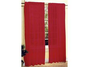New 2 Pc Sexy Sheer Voile Window Curtain Panel Set Red