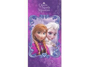 Disney's Frozen Queen of the North Mountain 100% Cotton Beach Bath Towel Purple