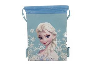 Disney's Frozen Drawstring Bag Tote Blue