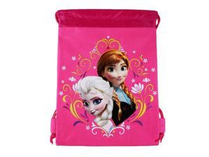 Disney's Frozen Drawstring Bag Tote Hot Pink
