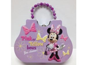 Disney Minnie Mouse Cute Tin Purse Carry Case Purple