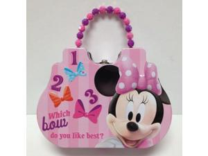 Disney Minnie Mouse Cute Tin Purse Carry Case Pink