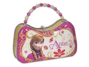 Disney Frozen Anna Tin Purse Lunch Box Carry Case Pink