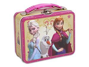 Disney Frozen Elsa, Anna & Olaf Tin Box Carry Case Pink