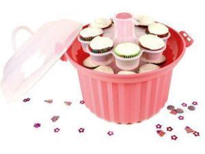 Fox Run Giant Cupcake Carrier, Pink