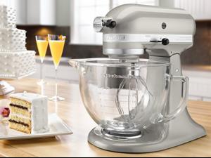 KitchenAid 5-qt. Artisan Design Design Series Stand Mixer, Sugar Pearl Silver