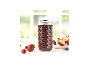 Ball® Set of 12 Quilted Crystal Jelly Jars