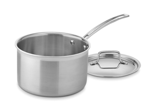 Cuisinart 4-qt. Stainless Steel MultiClad Pro Saucepan with Lid