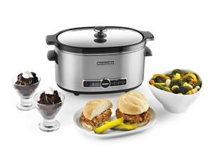 KitchenAid KSC6223SS Stainless Steel 6-Quart Slow Cooker with Solid Glass Lid