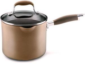 Anolon 3.5-qt. Nonstick Advanced Bronze Collection Straining Saucepan