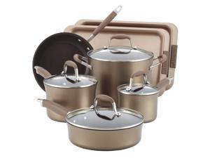 Anolon 9-pc. Nonstick Advanced Bronze Collection Cookware Set