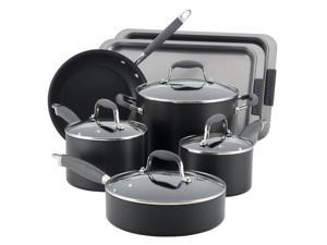 Anolon Advanced Hard Anodized 9 Piece Nonstick Cookware Set with 2 Piece Bakeware Set