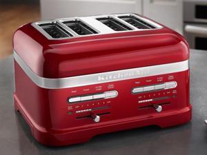 KitchenAid 4-slice Pro Line Toaster - Candy Apple Red