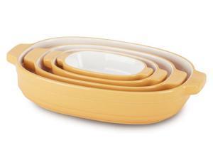 KitchenAid 4-pc. Ceramic Nesting Casserole Dishes, Buttercup