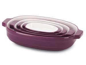 KitchenAid 4-pc. Ceramic Nesting Casserole Dishes, Boysenberry