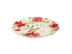 Paula Deen 12-in. Holiday Floral Round Platter