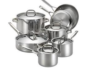 Anolon 12-pc. Stainless Steel Tri-ply Clad Cookware Set