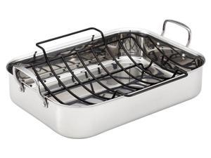 Anolon 17x12.5-in. Stainless Steel Tri-ply Clad Roasting Pan