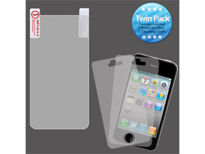 2x LCD Screen Cover Protector Film with Cloth Wipe for HTC EVO 3D