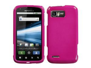 Solid Hot Pink Snap On Hard Protective Cover Case for MOTOROLA Atrix 2 MB865