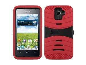 Red/Black Symbiosis Rugged Protective Cover Case w/ Stand HUAWEI M931 Premia 4G
