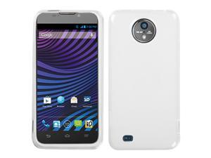 Semi-Transparent White Candy Skin Silicone Case Cover - ZTE Vital N9810