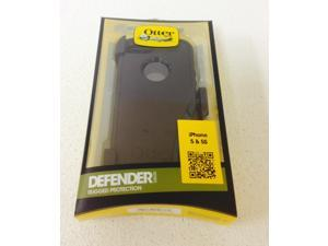 Black Otterbox Defender Series Case +Belt Holster for iPhone 5 5S for Touch ID