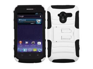 White/Black Rugged Impact Armor Case +Stand +Screen Cover For Avid 4G N9120