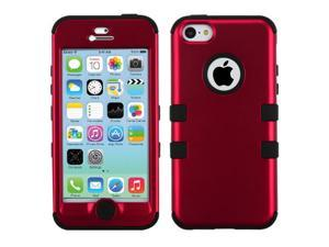 Red/Black Coating TUFF Hard Case +Silicone +Screen Protector For iPhone 5C