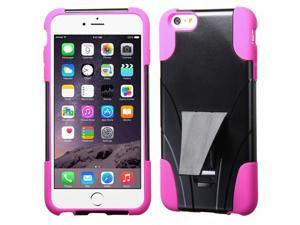 Hot Pink/Black Inverse Advanced Rugged Protector Case w/Stand for iPhone 6 Plus